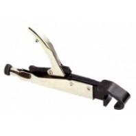 Зажим с фиксатором для кузовных работ (изогнутые губки для листов с загнутым краем)  FORCE 67904