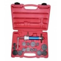 Набор приспособлений для возврата тормозных суппортов, с пневмоприводом,16пр.  FORCE 65815